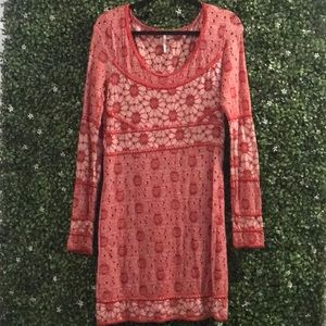 Free People long-sleeve eyelet dress